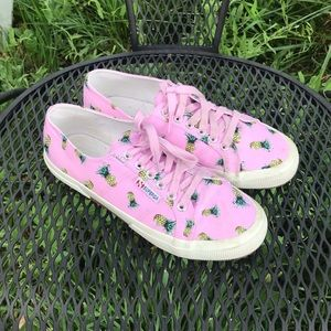 Superga size 8.5 pineapple sneakers